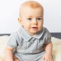 A3575  Boys knitted Top & Shorts set